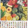 Разнообразие фруктов схема с удобной подборкой цветов