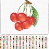 Вишенки схема для вышивания