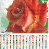 Роза схема для вышивания с подборкой цветов