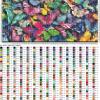 Подробная схема вышивки бабочек