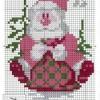 Весёлый Дед Мороз схема вышивки
