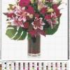 Цветы в вазе схема для вышивания с подборкой цветов