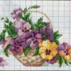 Схема вышивки корзинки с цветами