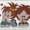 Схема вышивки деток