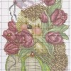 Ёжик с тюльпанами