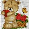 Схема вышивки медведя