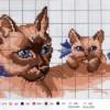 Как вышить кошку с котятами