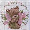 Как вышить медвежонка с цветочками