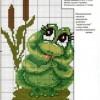 Как вышить лягушонка