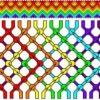 Фенечка «Радуга» техникой макраме
