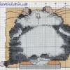 Схема вышивки «Толстый кот»