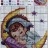 Схема вышивки «Спящий ангелочек»