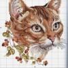 Схема вышивки «Кошка с веткой смородины»