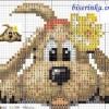 Схема вышивки «Пёсик»
