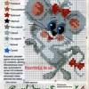 Схема вышивки «Мышонок»