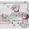 Схема вышивки «Долматинцы»