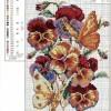 Схема вышивки цветов с бабочками
