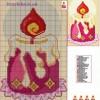 Схема вышивки крестиком «Свеча»