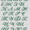 Схема вышивки бисером «Алфавит»