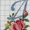 Схема вышивки буквы «А»