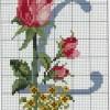Схема вышивки буквы «L»
