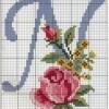 Схема вышивки буквы «N»