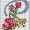 Схема вышивки красивой буквы «Р»