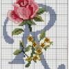 Красивая схема вышивки буквы «R»