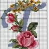 Схема вышивки буквы «Т»
