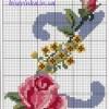 Красивая схема вышивки буквы «Z»