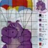 Схема вышивки «Бегемот-парашютист»