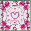 Схема вышивки часы «Романтика»