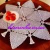 Схема вязания салфетки из треугольных кусочков