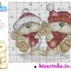Схема вышивки «Два медвежонка под снегом»