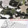Вязанны снежинки для украшения ёлки