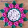 Салфетка с розами крючком