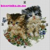 Схема вышивки часов с котятами