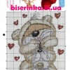 Схема вышивки «Медвежонок и зайчик» к Дню Св Валентина