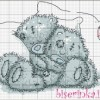 схема вышивки крестиком «Спящие медвежата»