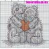 Схема вышивки «Мишки Тедди»