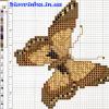Схема вышивки бисером «Бабочка»