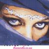 Схема вышивки крестиком «Взгляд»