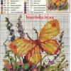 Схема вышивки «Бабочки на цветах»
