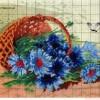 Картина «корзинка с цветами» вышитая крестиком