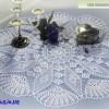 Красивая ажурная салфетка с ромбами