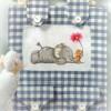 Схема вышивки крестиком «Слонёнок и мышонок»