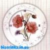 Схема вышивки крестом «Часы с маками»