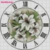 Схема вышивки часов с лилиями
