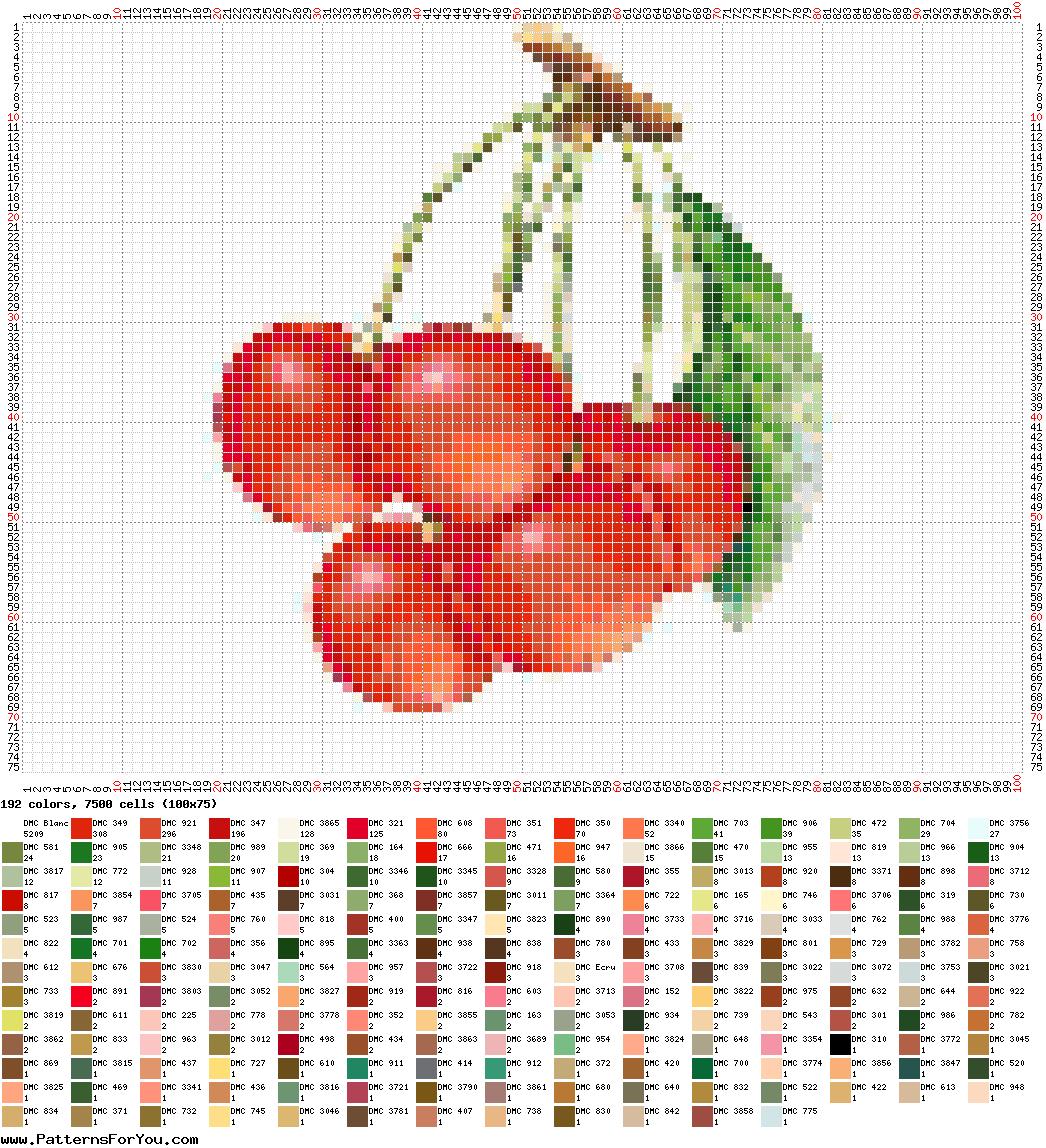 Вышивка бисером фрукты схема