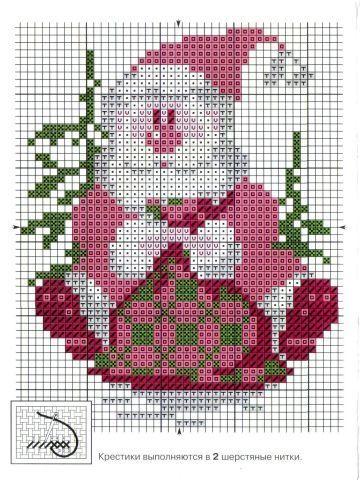 Дед Мороз схема вышивки